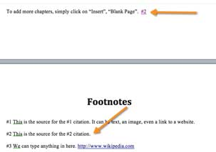 How to create citations and footnotes on the kindle kindle how to do footnotes citations on the kindle ccuart Images